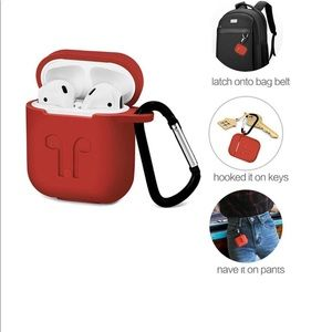 Waterproof silicon protective AirPod case